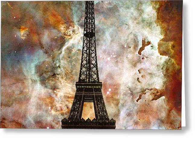 The Eiffel Tower - Paris France Art By Sharon Cummings Greeting Card by Sharon Cummings