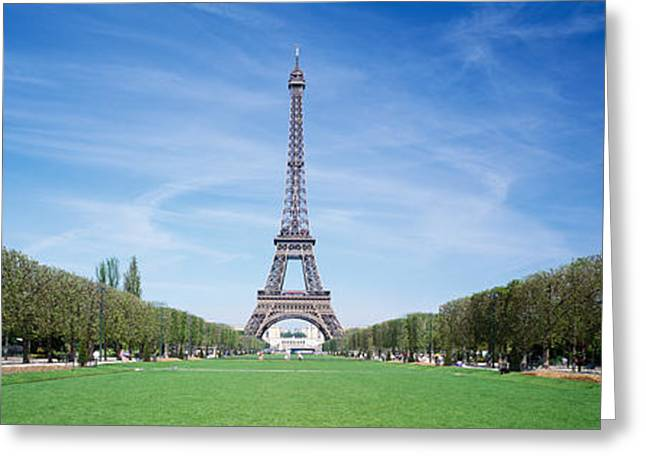 Gustave Photographs Greeting Cards - The Eiffel Tower Paris France Greeting Card by Panoramic Images