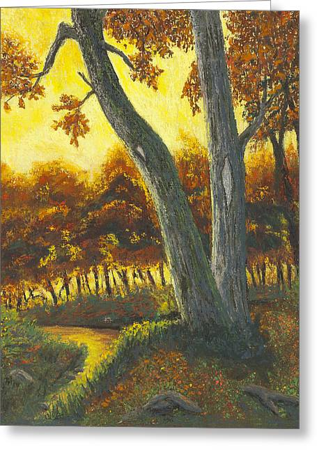 Creek Pastels Greeting Cards - The Elders Greeting Card by Garry McMichael