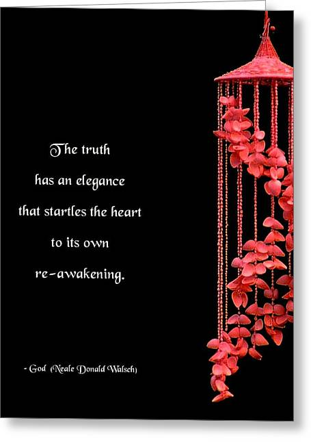 Incite Greeting Cards - The Elegance of Truth Greeting Card by Mike Flynn