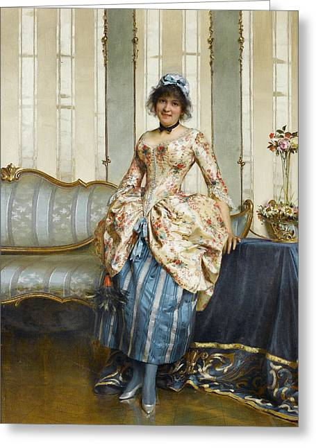 The Elegant Maid Greeting Card by Frederick Soulacroix