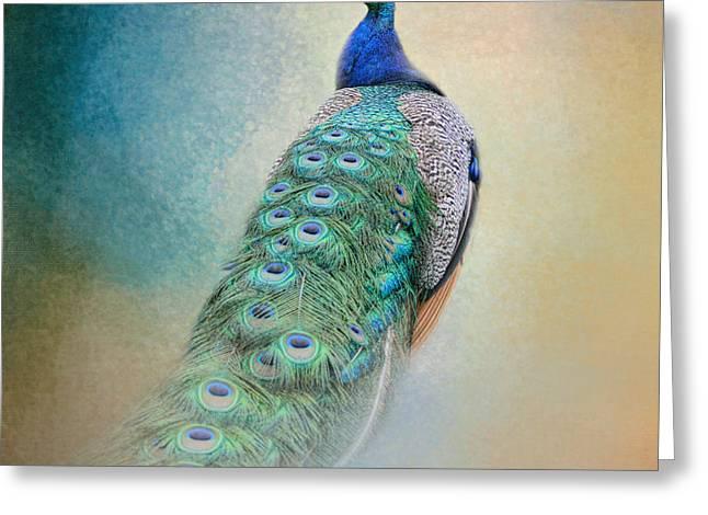 Royalty Greeting Cards - The Elegant Peacock - Wildlife Greeting Card by Jai Johnson