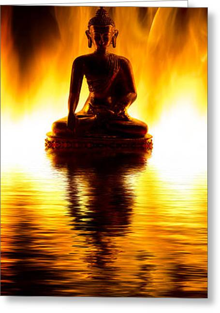Awareness Greeting Cards - The Elemental Buddha Greeting Card by Tim Gainey