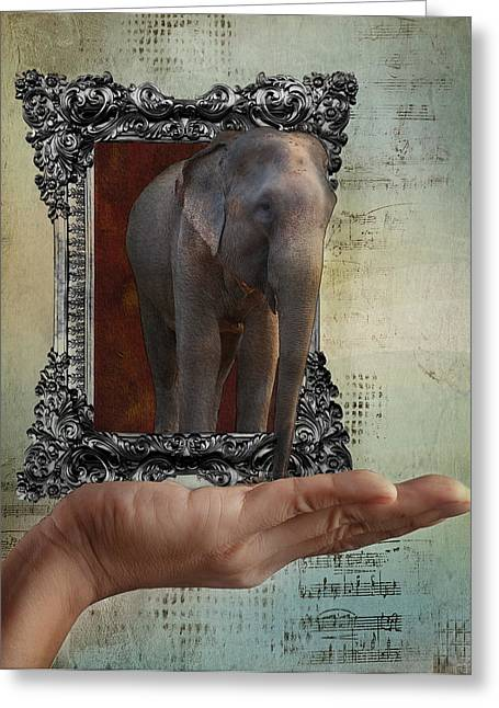 Elephant In The Room Greeting Cards - The Elephant in the Room Greeting Card by Terry Fleckney