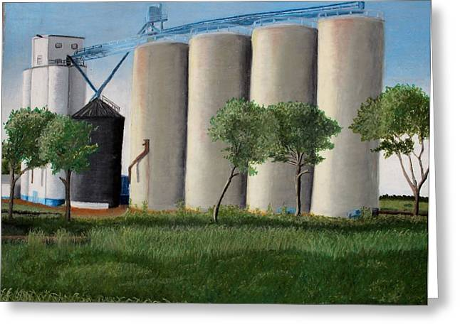 Farming Pastels Greeting Cards - The Elevator Greeting Card by Kimberly Burkhardt