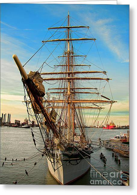Tall Ships Greeting Cards - The Elissa Greeting Card by Cindy Tiefenbrunn