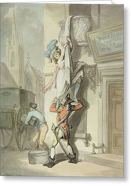 The Elopement, 1792 Wc With Pen & Ink Over Graphite On Paper Greeting Card by Thomas Rowlandson