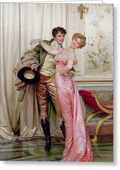 Sweetheart Greeting Cards - The Embrace Greeting Card by Joseph Frederick Charles Soulacroix