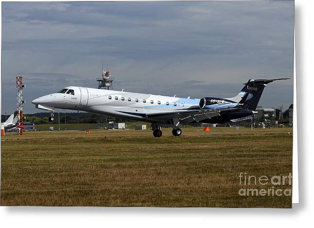 First-class Greeting Cards - The Embraer Legacy 500 At Farnborough Greeting Card by Riccardo Niccoli