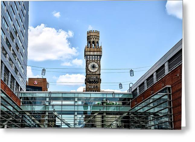 Emerson Greeting Cards - The Emerson Bromo-Seltzer Tower Greeting Card by Bill Cannon