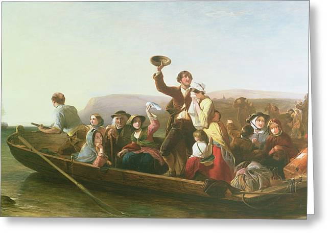 Departure Greeting Cards - The Emigrants Greeting Card by Thomas Falcon Marshall
