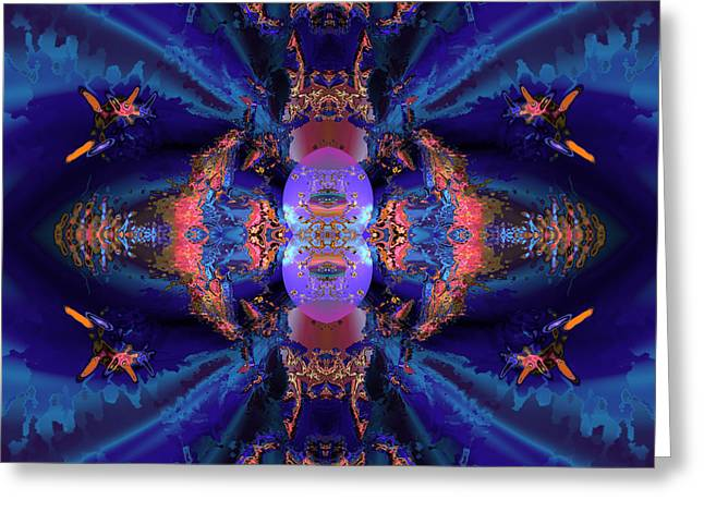 Algorithmic Abstract Greeting Cards - The emisarys retinue Greeting Card by Claude McCoy