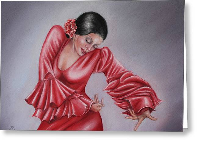 Expression Pastels Greeting Cards - The Emotion Of Dance Greeting Card by Rosemary Colyer
