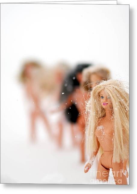 Barbie Greeting Cards - The emotional sexual  and psychological stereotyping of females Greeting Card by Amy Cicconi