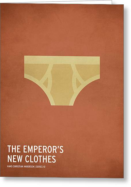 Kid Greeting Cards - The Emperors New Clothes Greeting Card by Christian Jackson