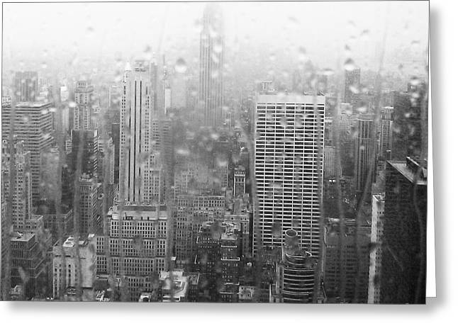The Empire In The Rain Greeting Card by Alice Gardoni