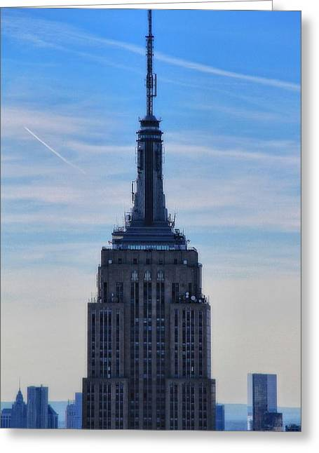 New Mind Greeting Cards - The Empire State Building Greeting Card by Dan Sproul