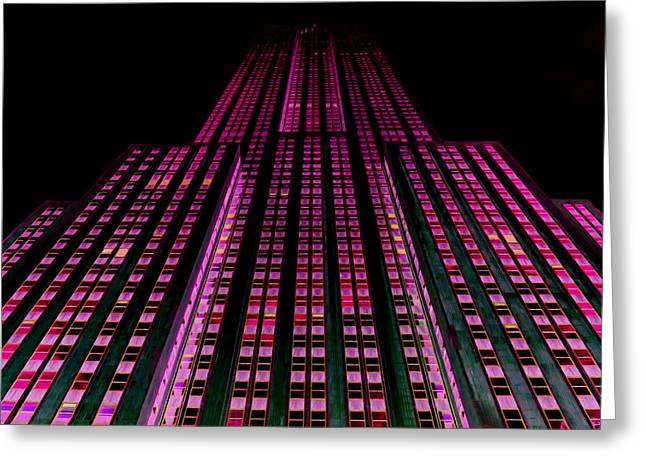 Historic Statue Greeting Cards - The Empire State Building Greeting Card by Lanjee Chee
