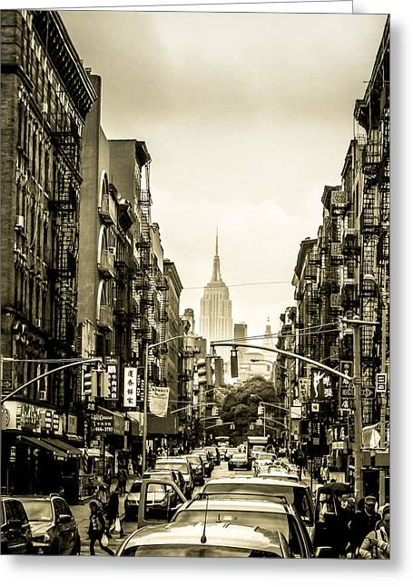 Newyorkcity Greeting Cards - The Empire Greeting Card by Wilson Carvalho