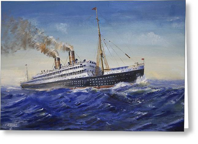 Steam Ship Greeting Cards - The Empress of Ireland Greeting Card by Christopher Jenkins