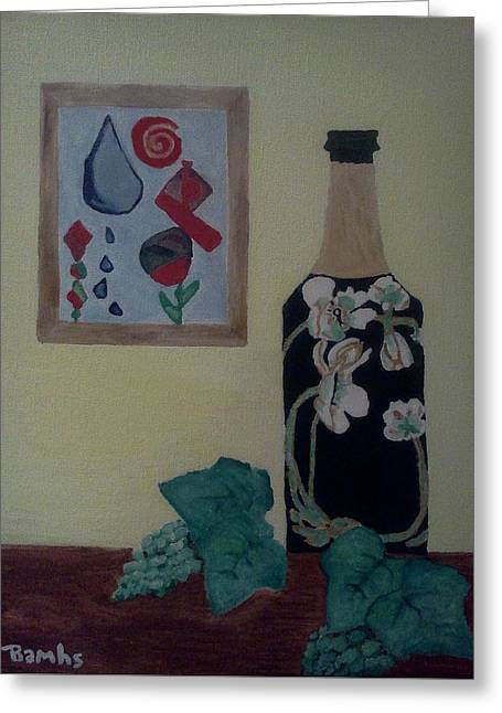 Bamhs Blair Greeting Cards - The Empty Bottle Greeting Card by Bamhs Blair