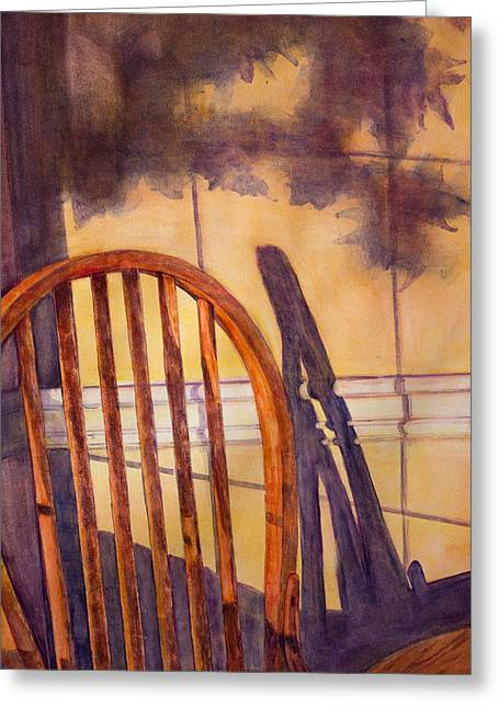 The Empty Chair Greeting Card by Janet Felts