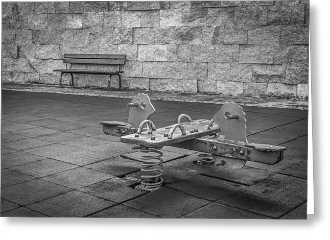 Innocence Greeting Cards - The Empty Playground Greeting Card by Ernesto Santos