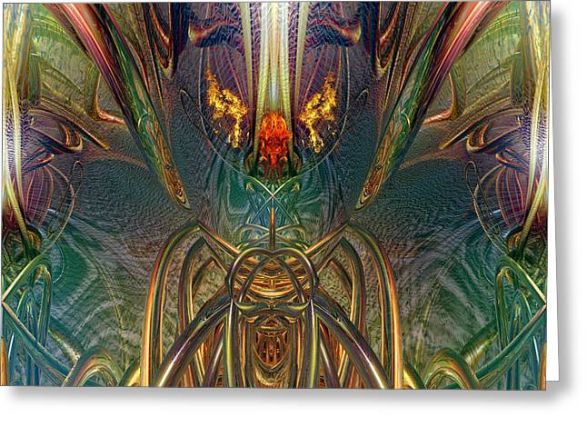 Tion Greeting Cards - The Enchanted Candle Light Fire Fx  Greeting Card by G Adam Orosco