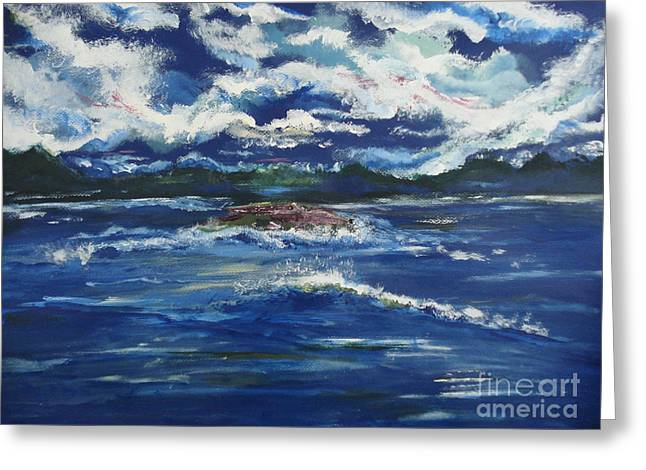 Roll Tide Paintings Greeting Cards - The Enchanting Sea  Greeting Card by Lori  Lovetere