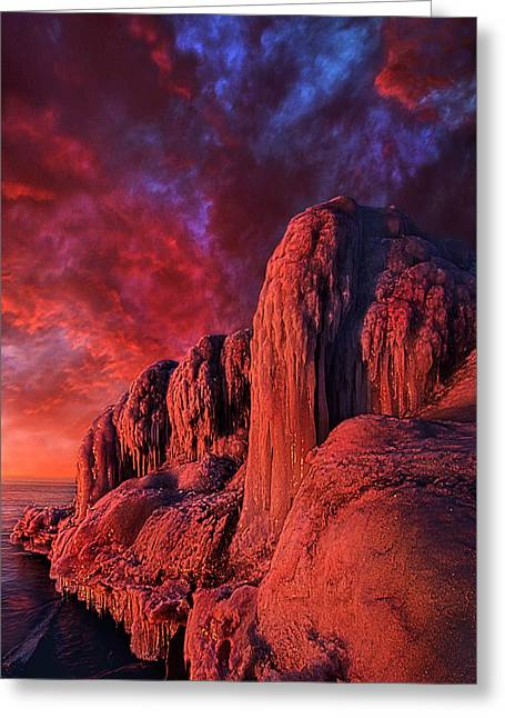 Frozen Photographs Greeting Cards - The End of Days Greeting Card by Phil Koch