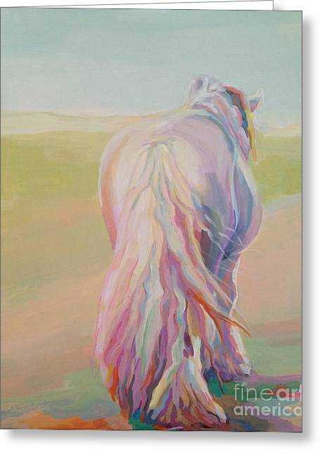 Equines Pastels Greeting Cards - The End of the Day Greeting Card by Kimberly Santini