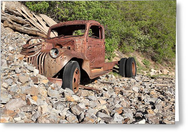 Old Trucks Greeting Cards - The End of the Line Greeting Card by Eric Glaser