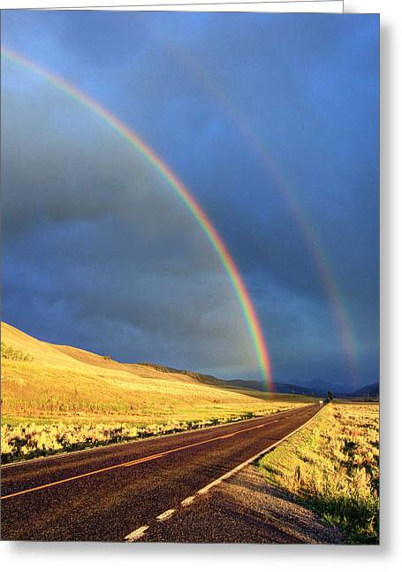 The End Of The Rainbow Greeting Card by Jackie Novak