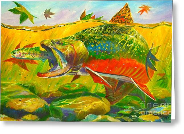 Fishing Art Print Greeting Cards - The end of the rainbow  Greeting Card by Yusniel Santos