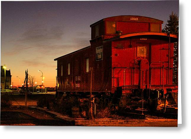 Caboose Greeting Cards - The End Greeting Card by Thomas Danilovich