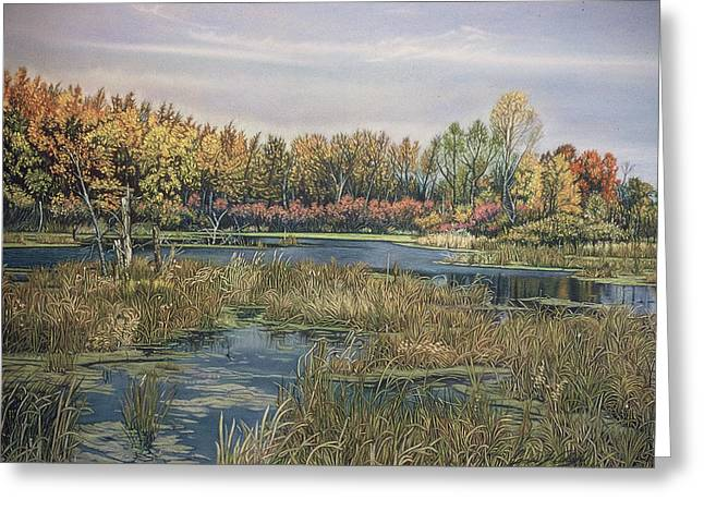 Planet Earth Pastels Greeting Cards - The Endangered Wetlands No. 4 Greeting Card by James Welch
