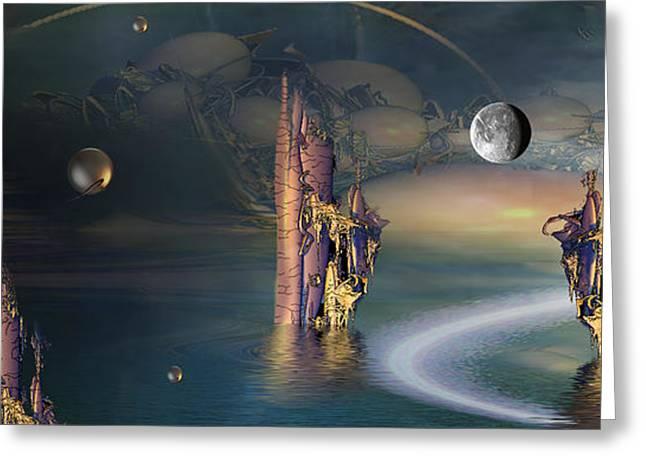 Mix Medium Digital Greeting Cards - The Endless River Greeting Card by Phil Sadler