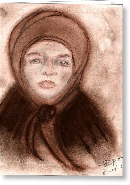 Portal Pastels Greeting Cards - The Endurance of Marta Greeting Card by Roger Hanson