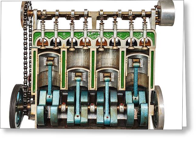 Camshaft Greeting Cards - The Engine Greeting Card by Martin Bergsma