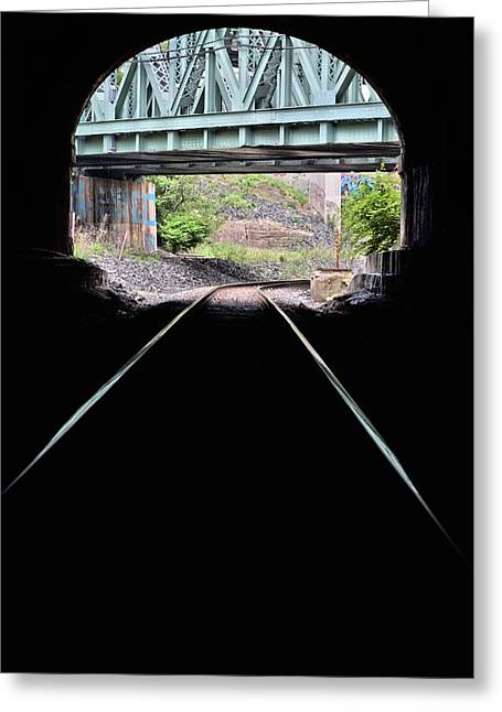 Light At The End Of The Tunnel Greeting Cards - The Engineers View Greeting Card by JC Findley