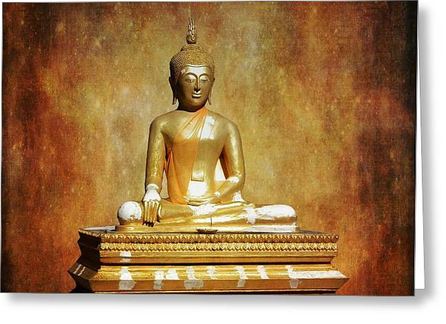 Nirvanna Greeting Cards - The Enlightened One Greeting Card by Scott Cameron