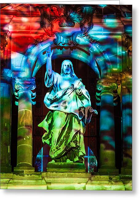 Saint Hope Greeting Cards - The Enlightenment Greeting Card by Robert Frank