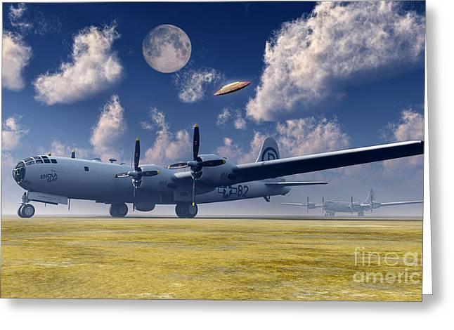 Enola Gay Greeting Cards - The Enola Gay B-29 Superfortress Greeting Card by Mark Stevenson
