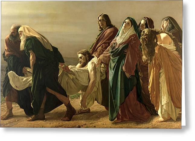 The Entombment, 1883 Greeting Card by Antonio Ciseri