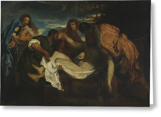 Religious Paintings Greeting Cards - The Entombment Greeting Card by Ignace Henri Jean Fantin-Latour