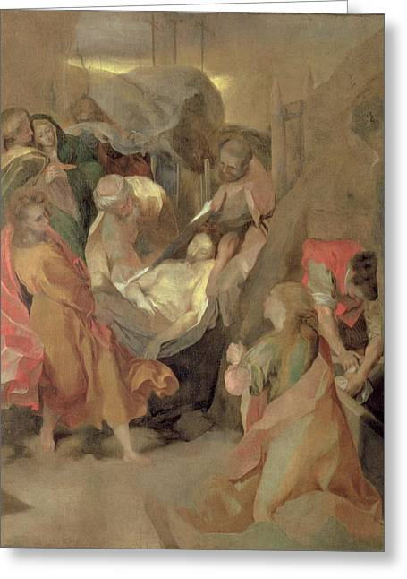 Counter Greeting Cards - The Entombment of Christ Greeting Card by Barocci