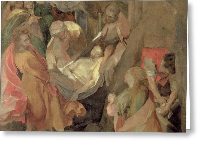 The Entombment of Christ Greeting Card by Barocci
