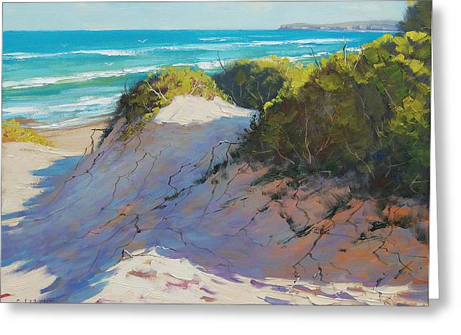 Central Coast Greeting Cards - The Entrance Dunes Greeting Card by Graham Gercken