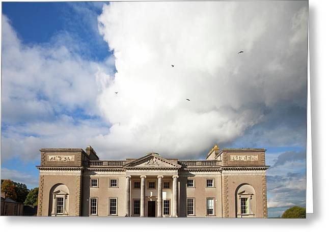 The Entrance To Emo Court Designed Greeting Card by Panoramic Images