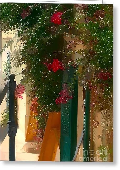Floral Photos Greeting Cards - The entrance Greeting Card by Tom Prendergast